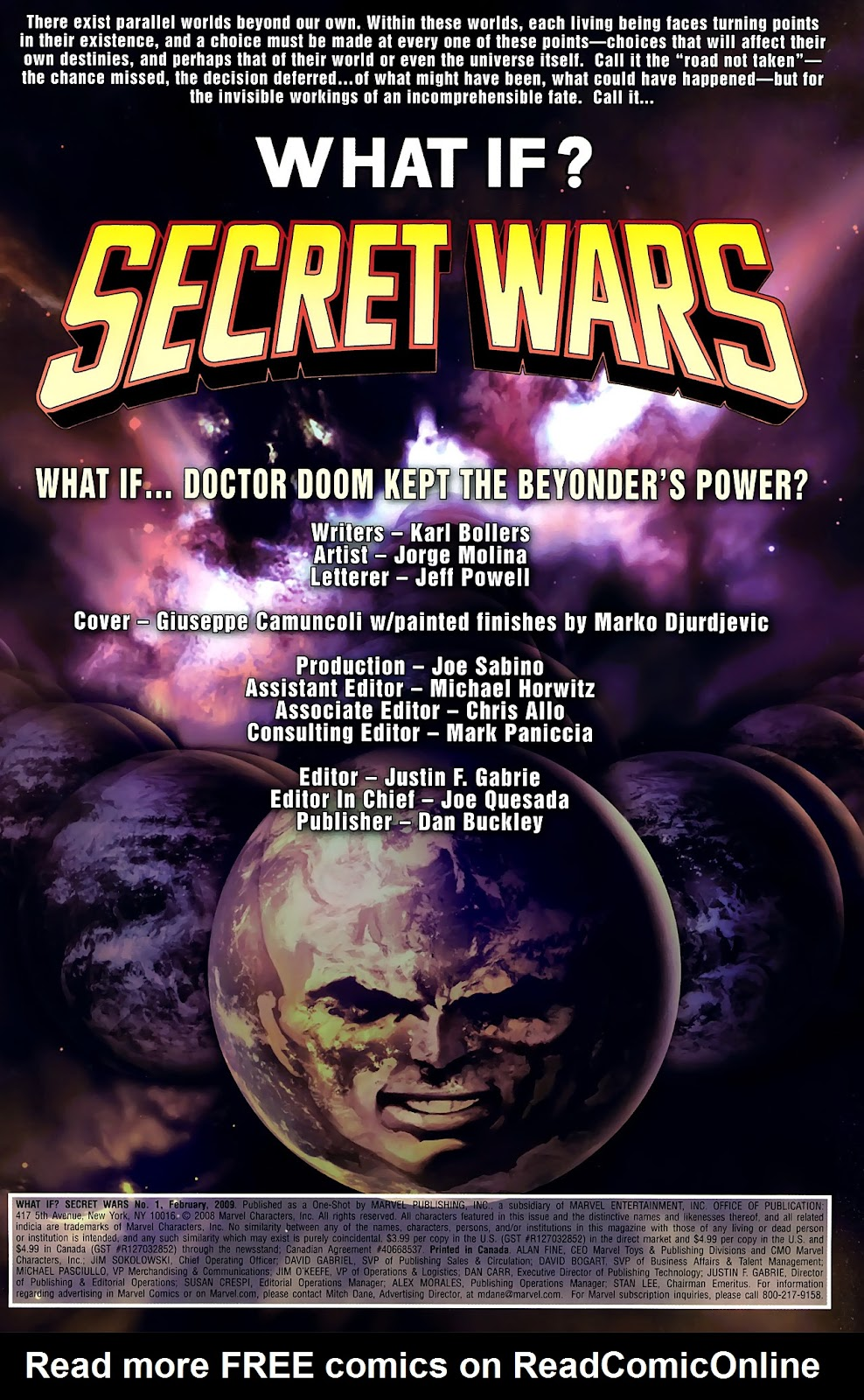 Read online What If? Secret Wars comic -  Issue # Full - 2