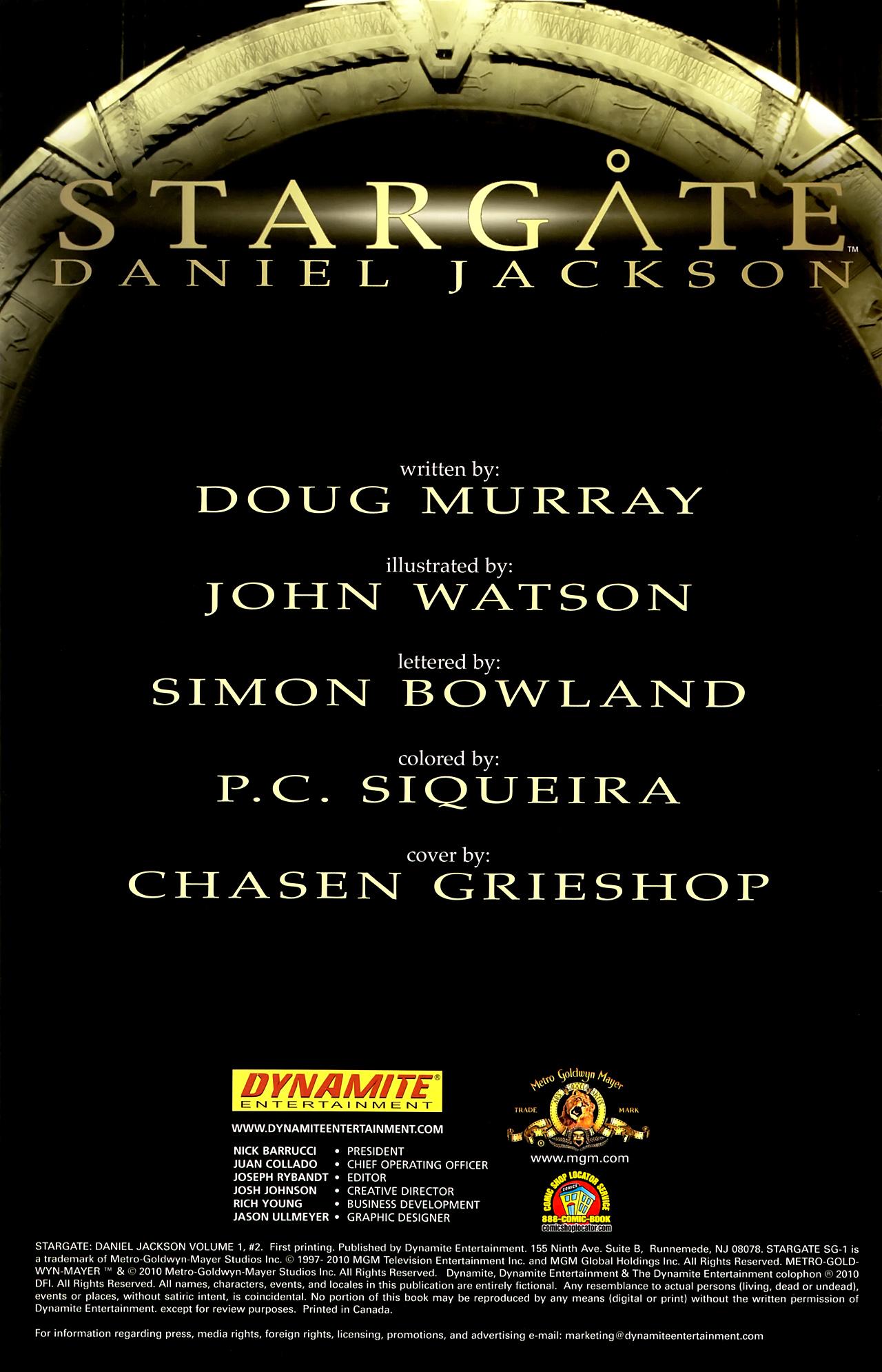 Read online Stargate: Daniel Jackson comic -  Issue #2 - 2
