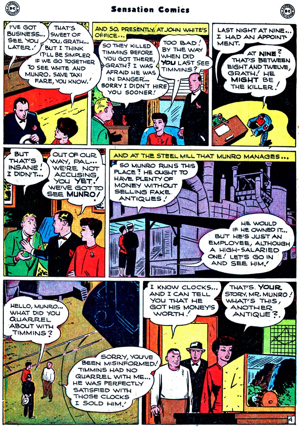 Read online Sensation (Mystery) Comics comic -  Issue #91 - 42
