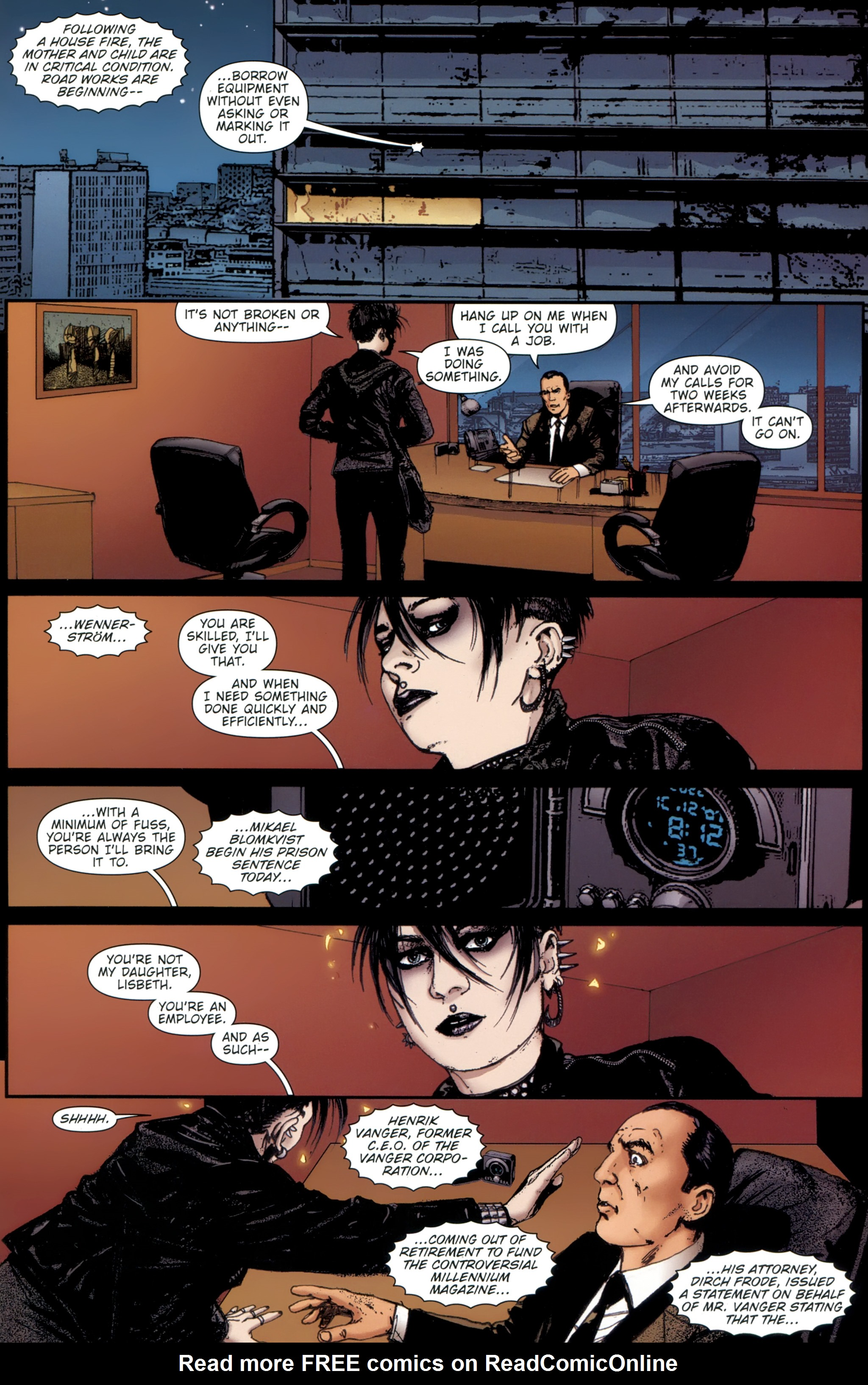 Read online The Girl With the Dragon Tattoo comic -  Issue # TPB 1 - 148