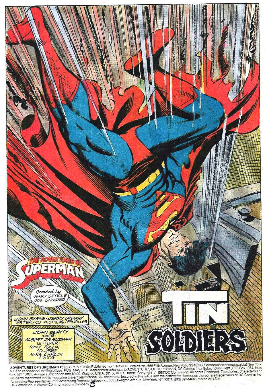 Read online Adventures of Superman (1987) comic -  Issue #439 - 3