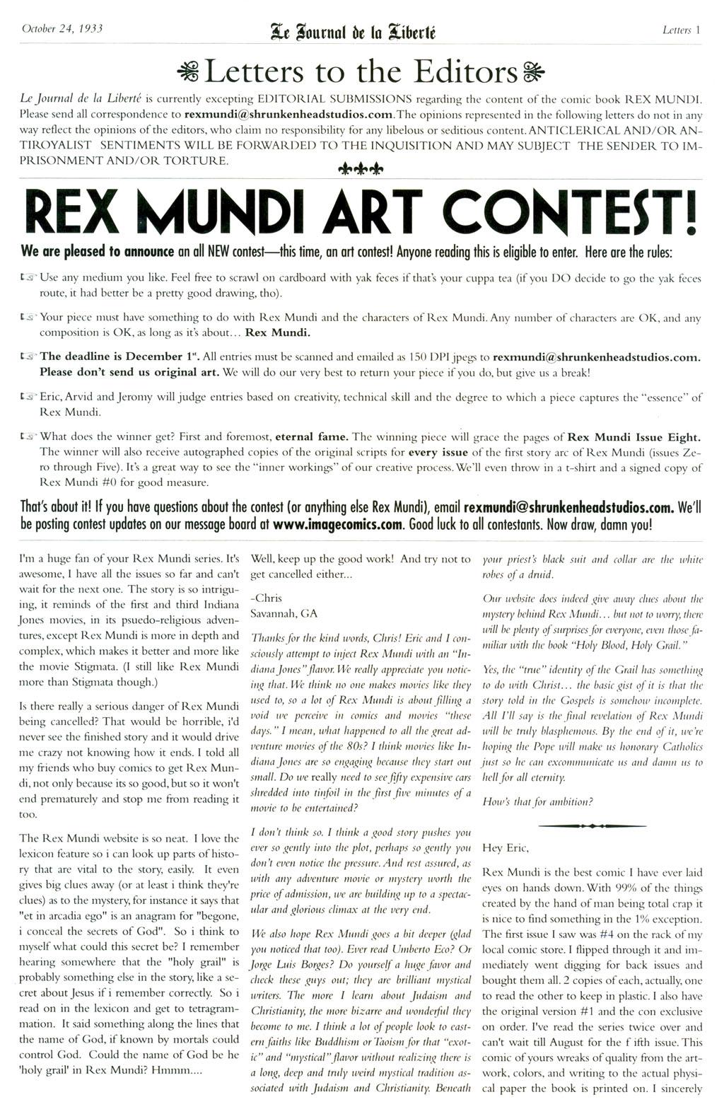 Read online Rex Mundi comic -  Issue #6 - 29