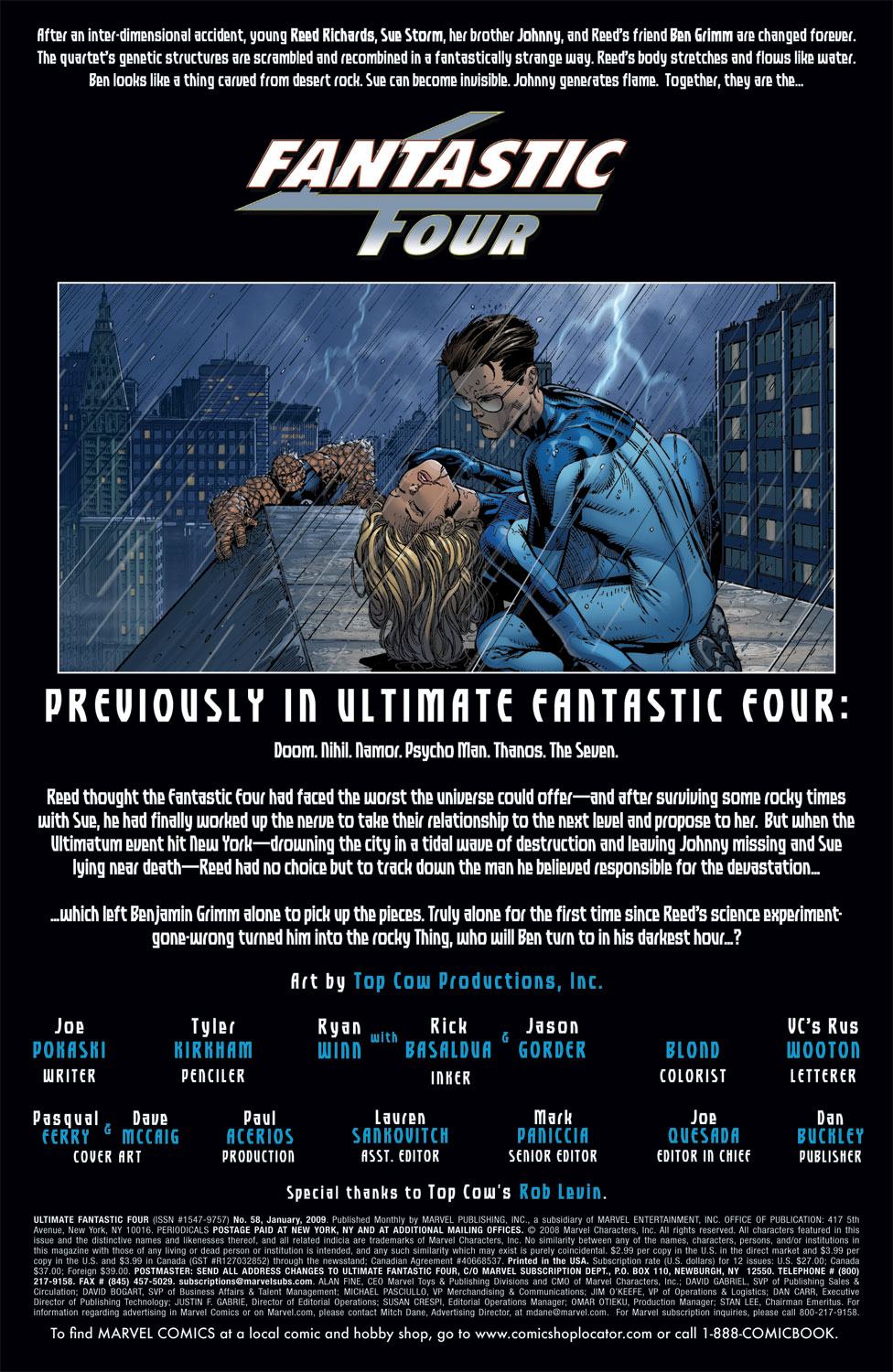 Read online Ultimate Fantastic Four (2004) comic -  Issue #58 - 2