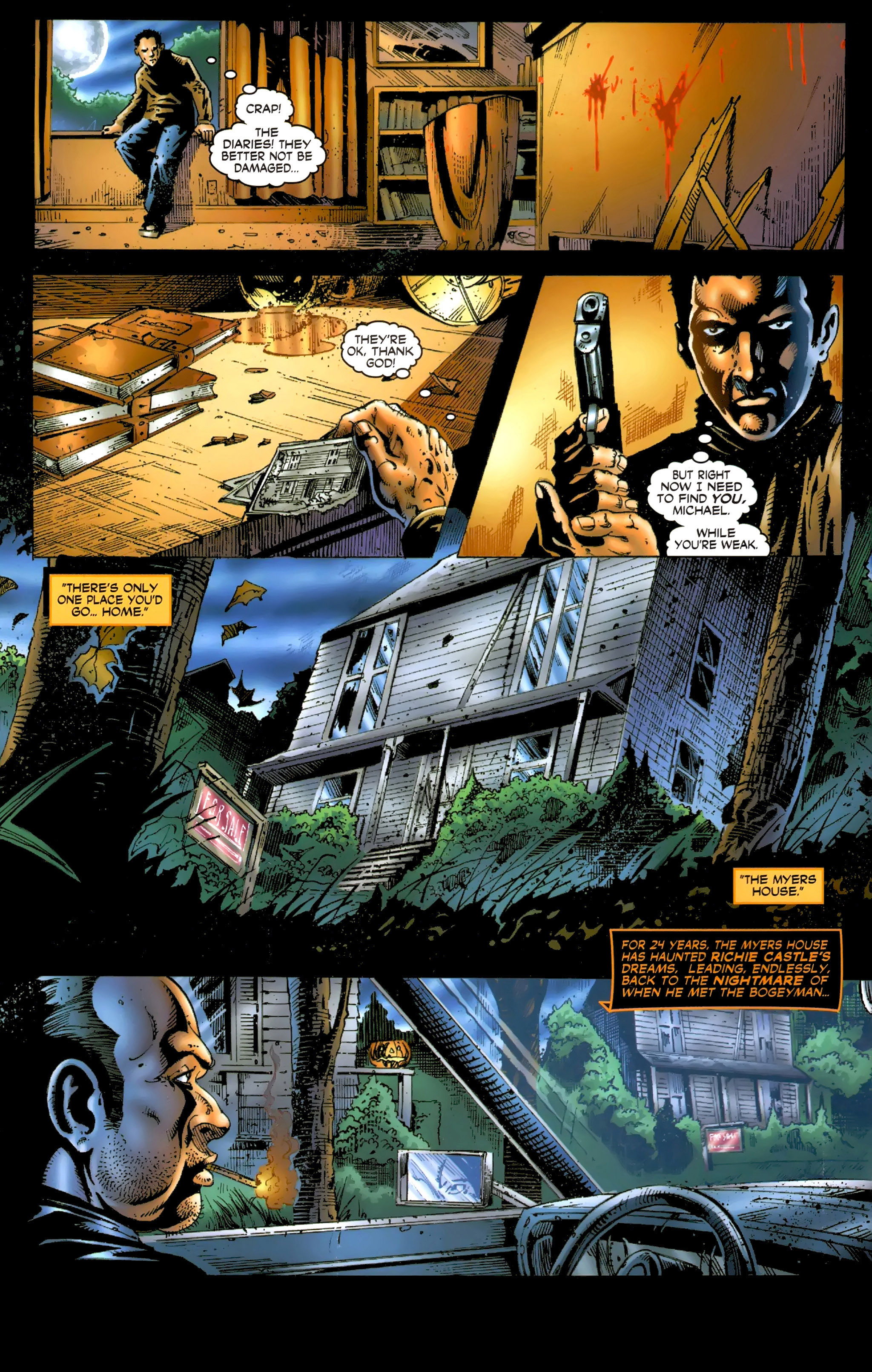 Read online Halloween II: The Blackest Eyes comic -  Issue # Full - 4