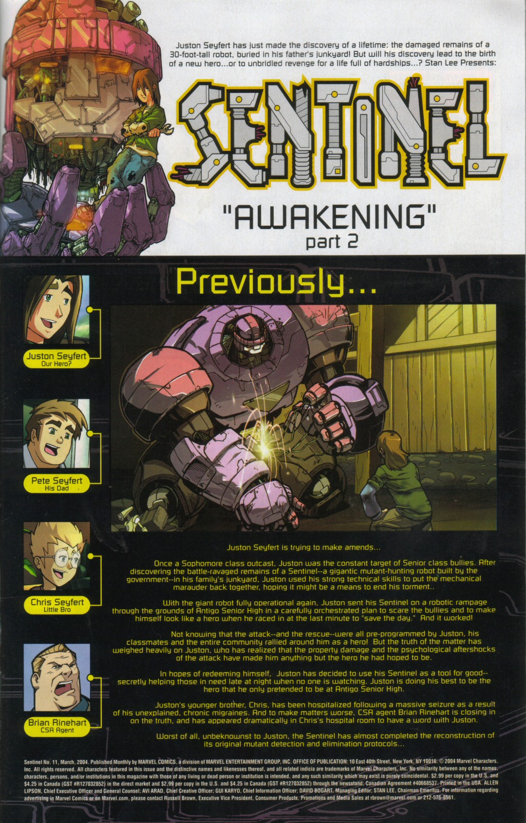 Read online Sentinel comic -  Issue #11 - 2