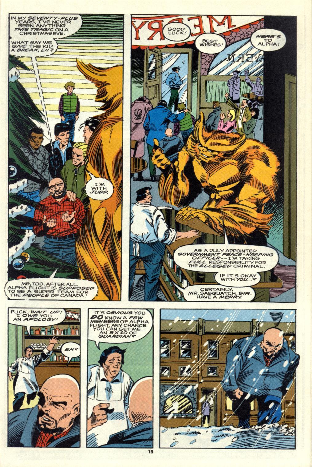 Read online Alpha Flight (1983) comic -  Issue #105 - 16