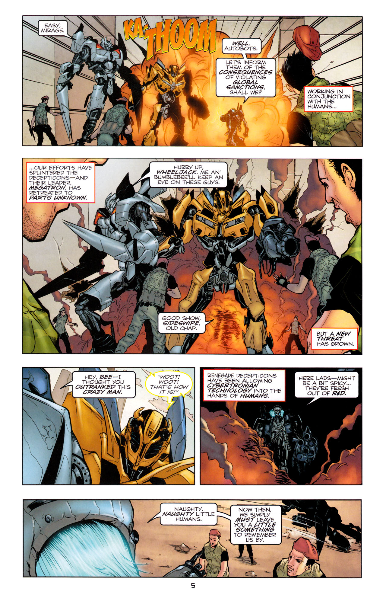 Read online Transformers: Dark of the Moon Movie Adaptation comic -  Issue #1 - 7