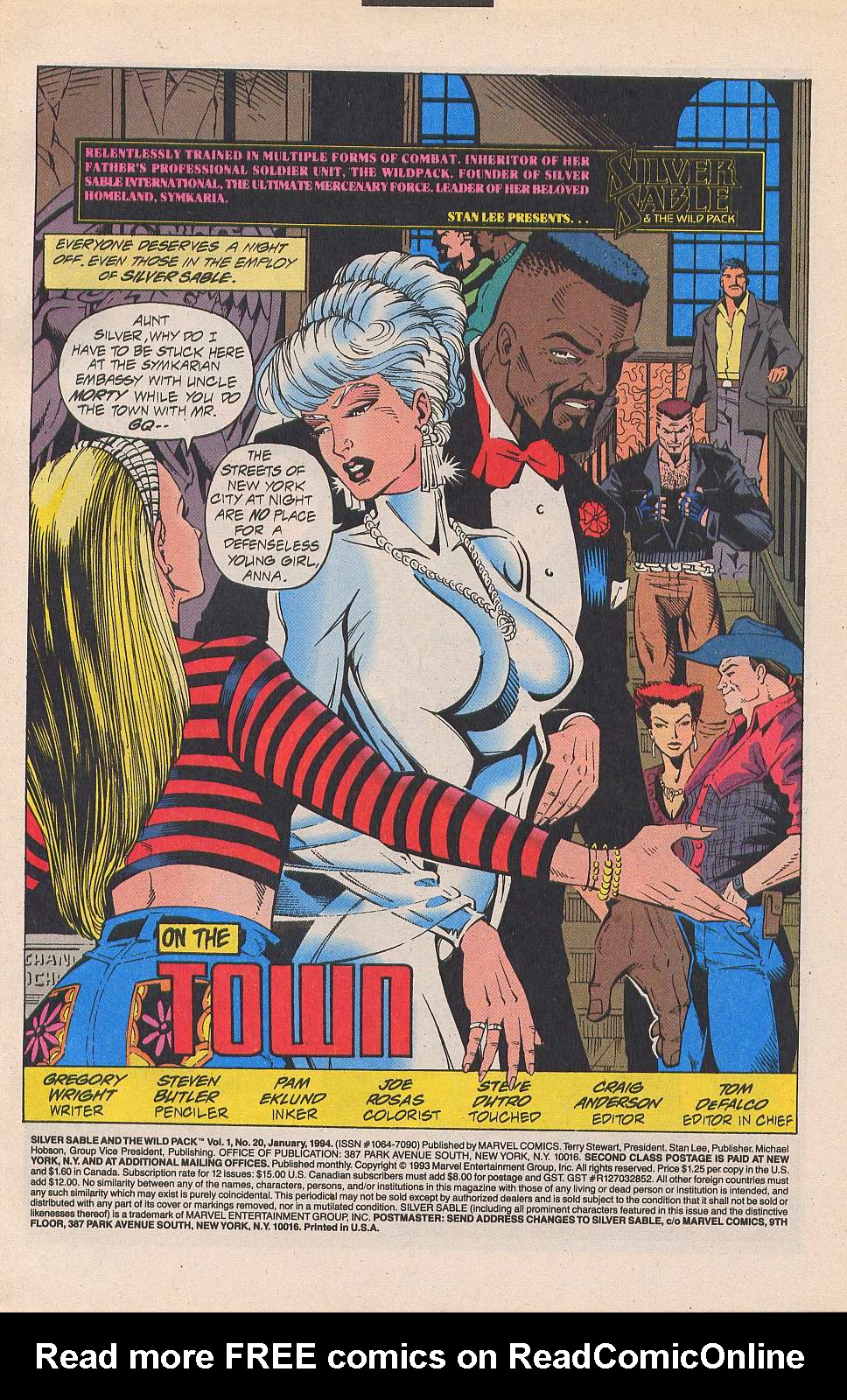 Read online Silver Sable and the Wild Pack comic -  Issue #20 - 2