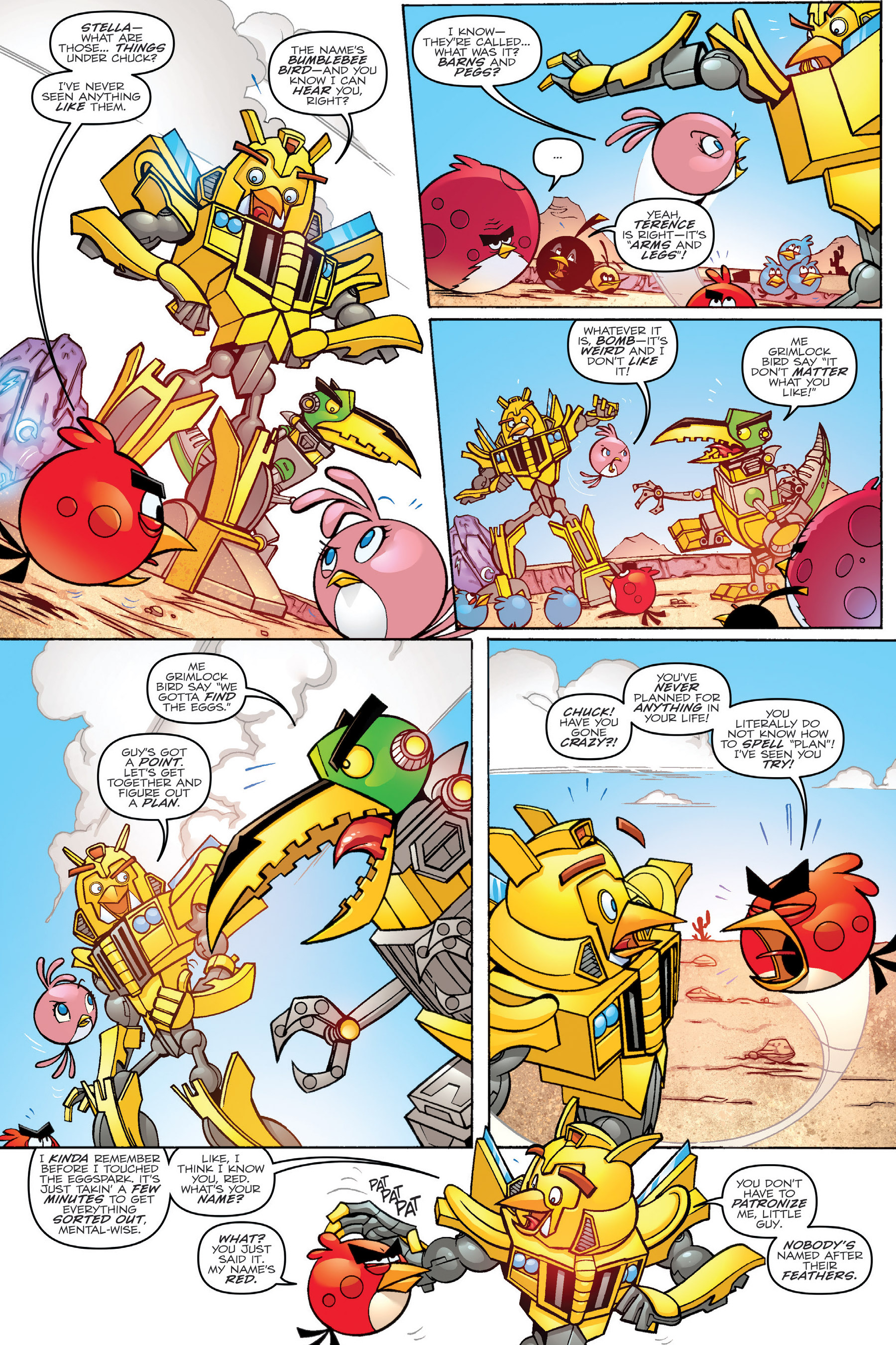 Read online Angry Birds Transformers: Age of Eggstinction comic -  Issue # Full - 29