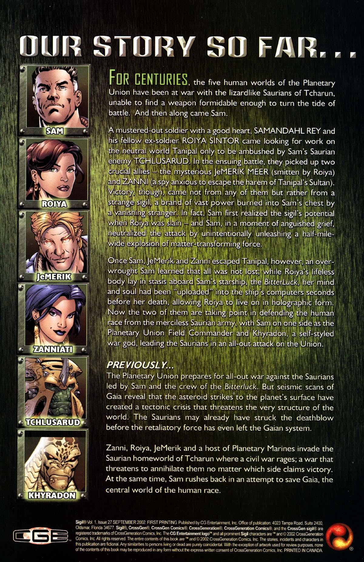 Read online Sigil (2000) comic -  Issue #27 - 2