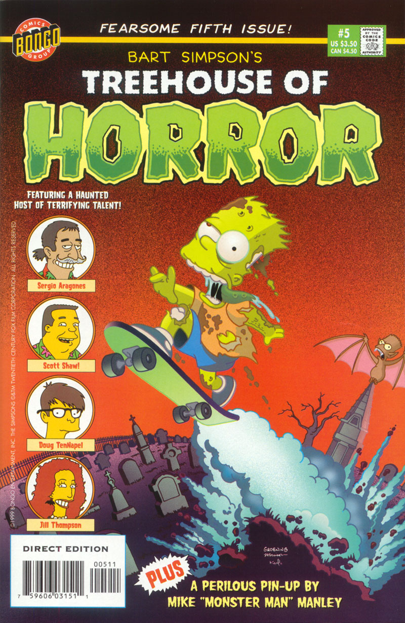 Read online Treehouse of Horror comic -  Issue #5 - 1