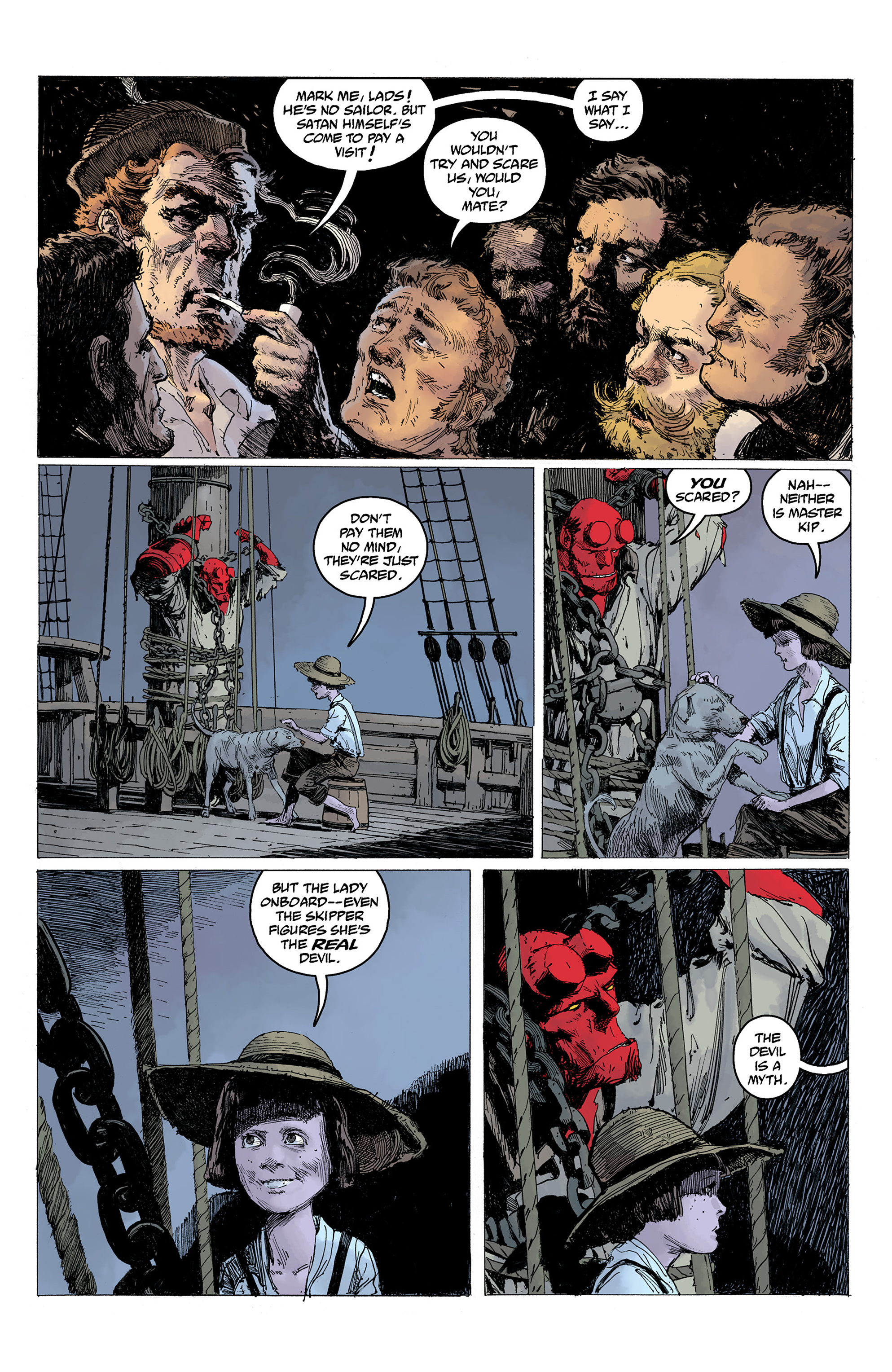 Read online Hellboy: Into the Silent Sea comic -  Issue # Full - 24