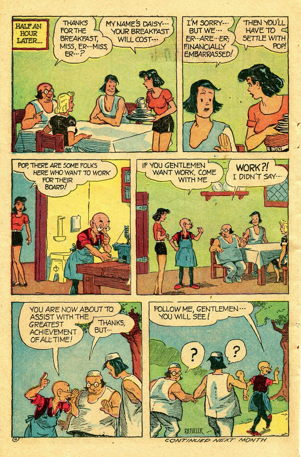Read online Famous Funnies comic -  Issue #130 - 38