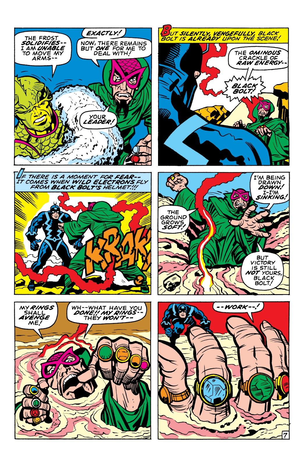 Read online Marvel Masterworks: The Inhumans comic -  Issue # TPB 1 (Part 1) - 98