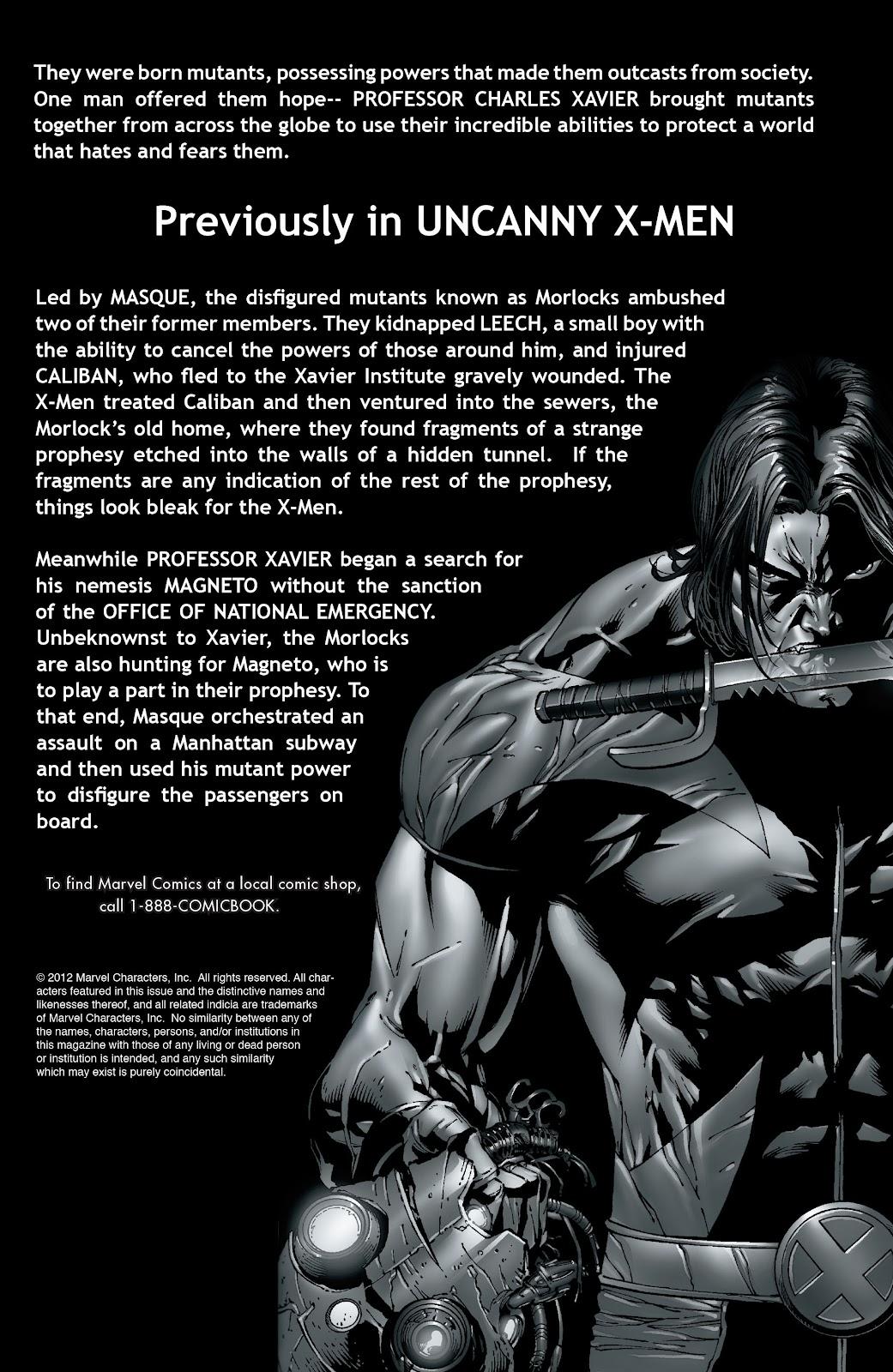 Uncanny X-Men (1963) issue 489 - Page 2