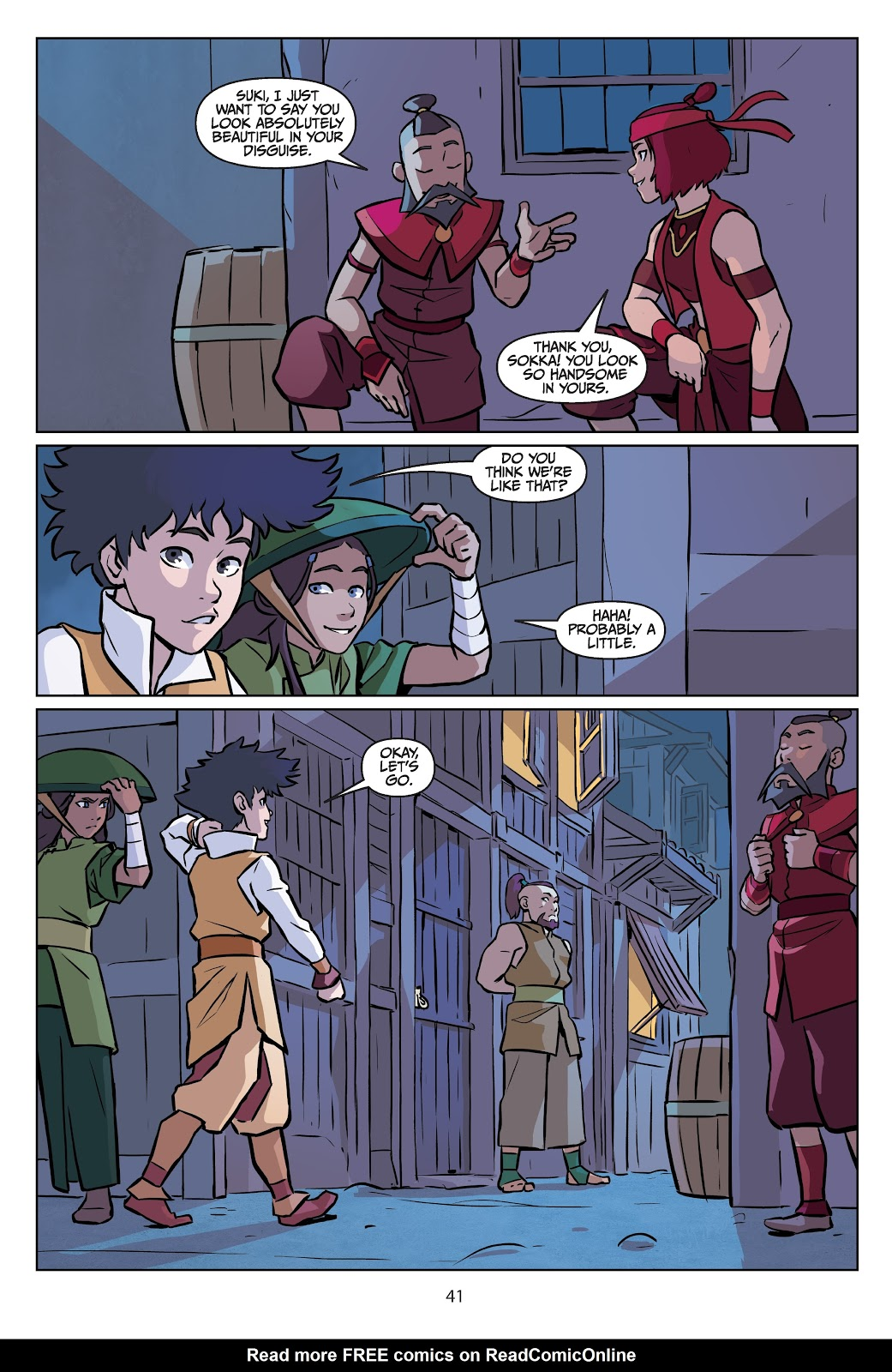 Read online Nickelodeon Avatar: The Last Airbender - Imbalance comic -  Issue # TPB 2 - 42