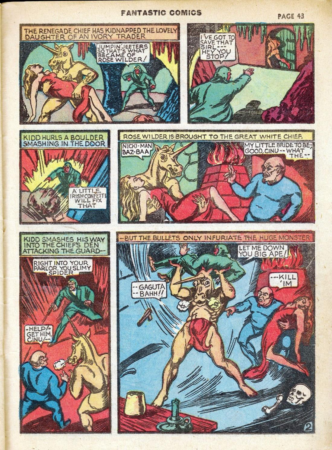 Read online Fantastic Comics comic -  Issue #7 - 45