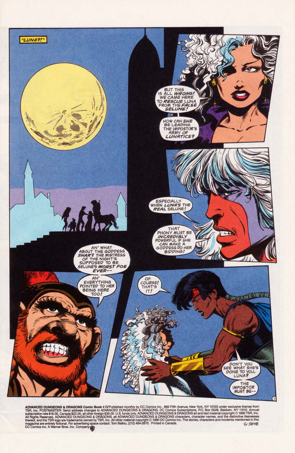 Read online Advanced Dungeons & Dragons comic -  Issue #22 - 2