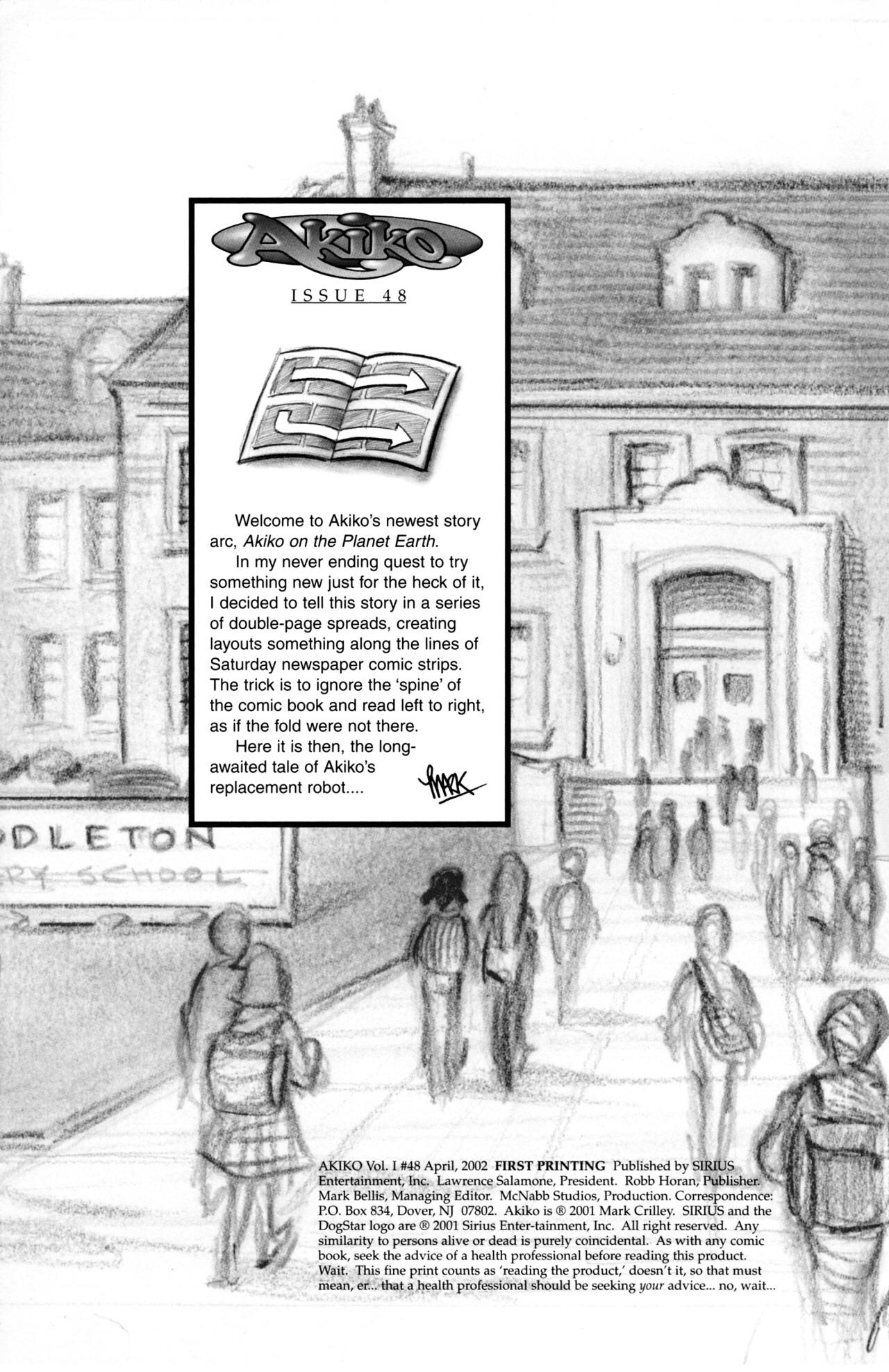 Read online Akiko comic -  Issue #48 - 2