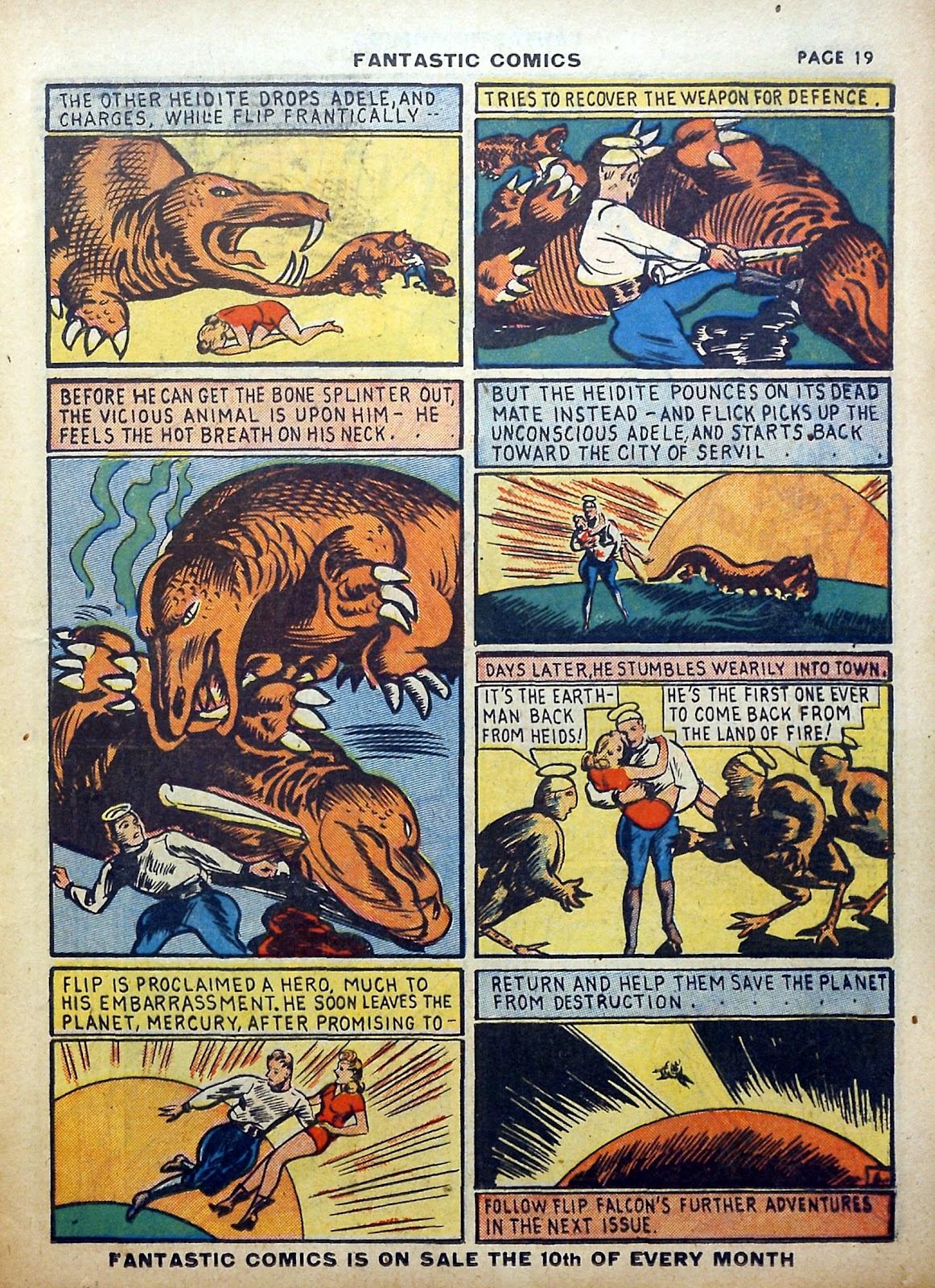 Read online Fantastic Comics comic -  Issue #5 - 20
