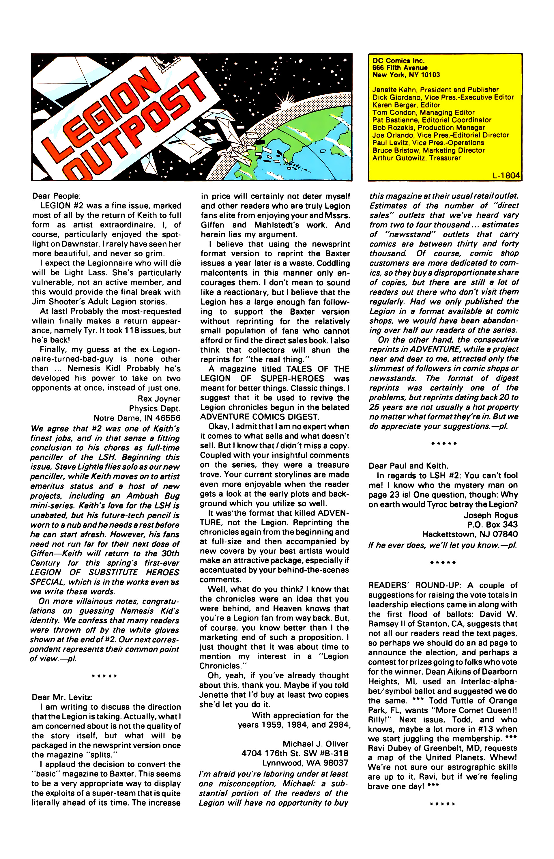 Legion of Super-Heroes (1984) 7 Page 25