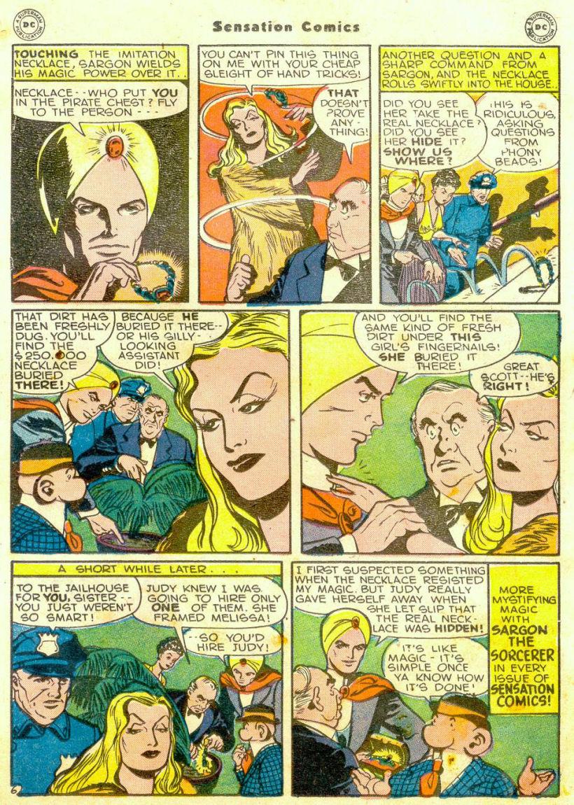Read online Sensation (Mystery) Comics comic -  Issue #65 - 28