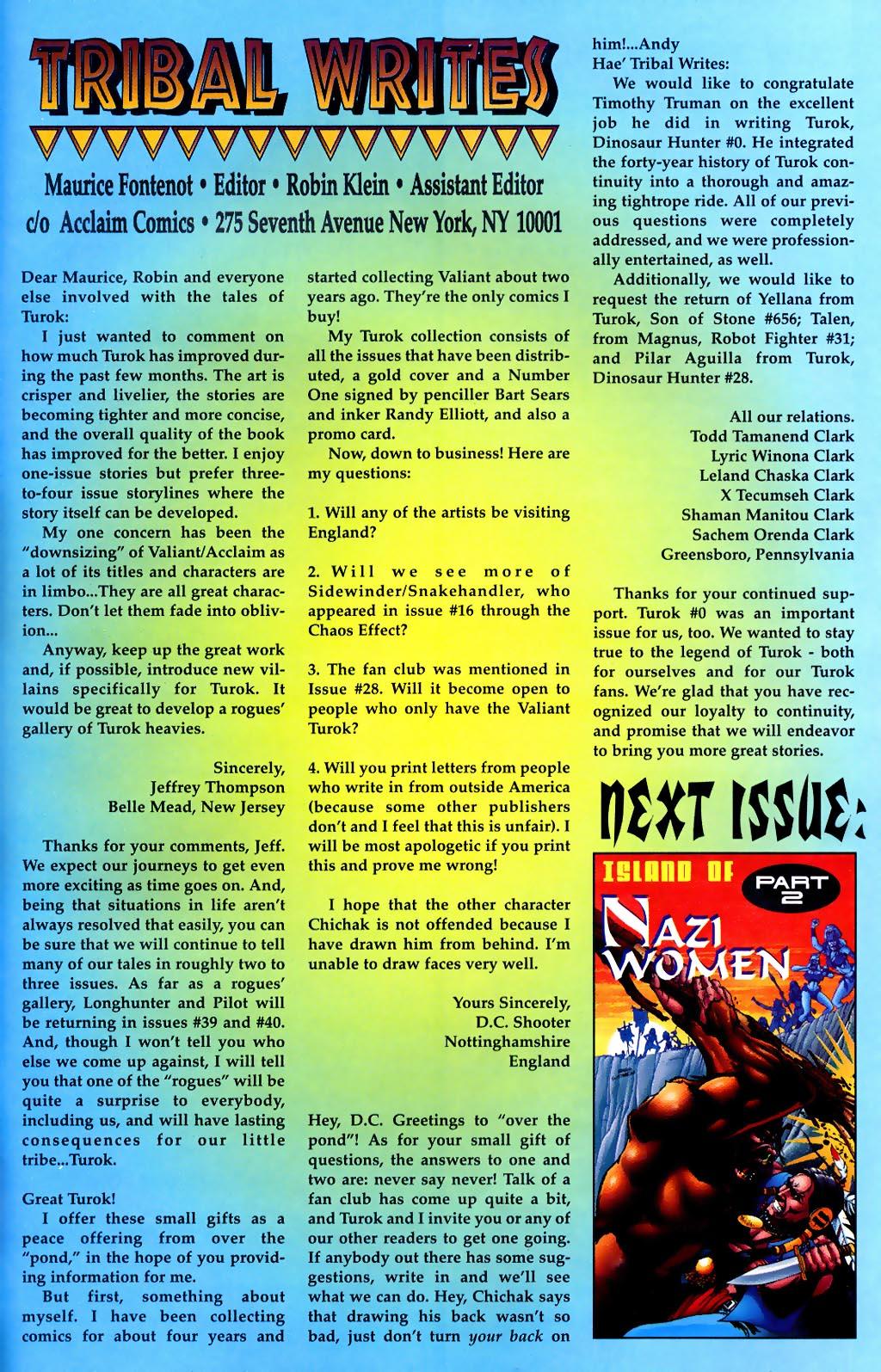 Read online Turok, Dinosaur Hunter (1993) comic -  Issue #37 - 23