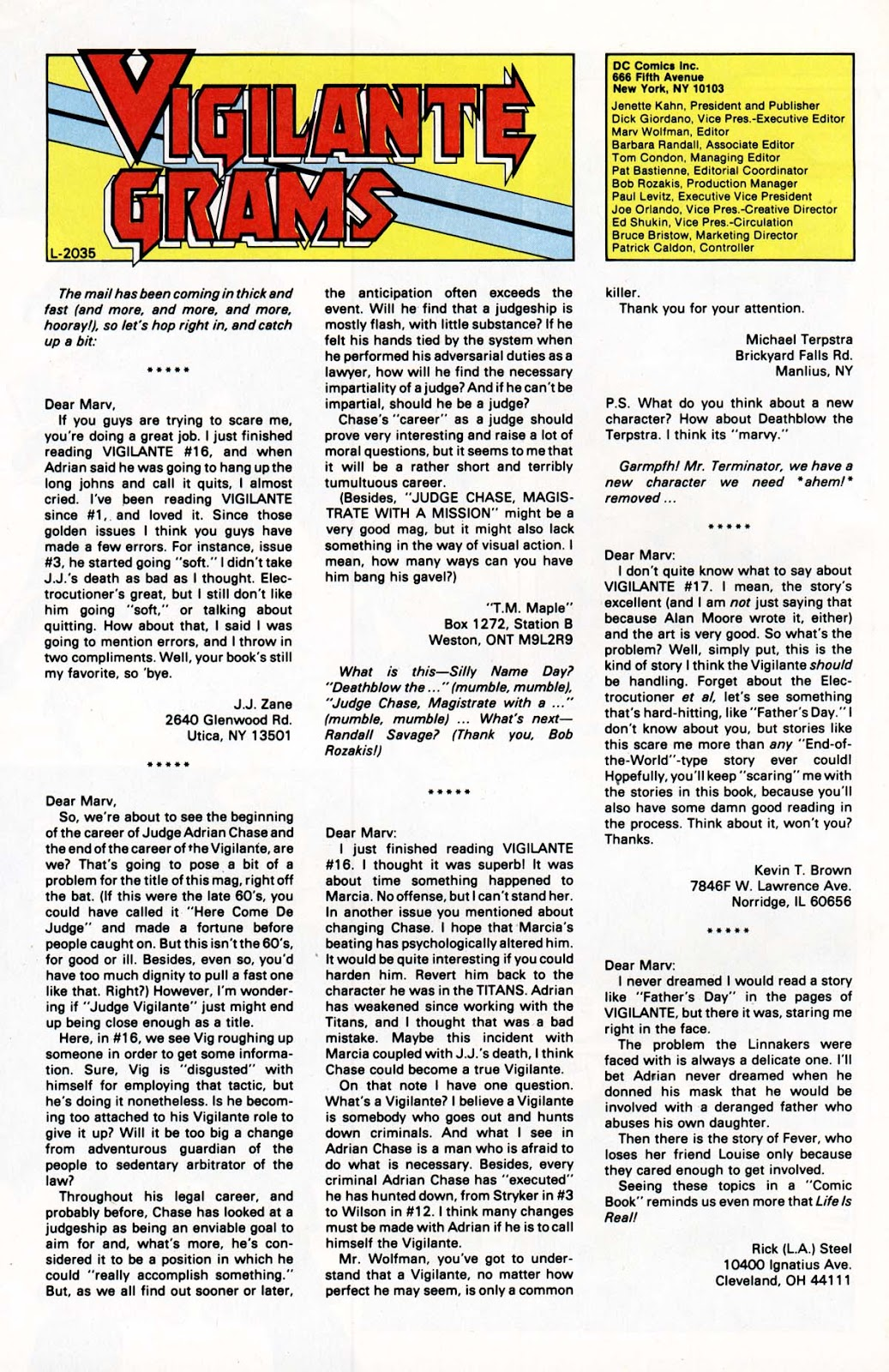 Vigilante (1983) issue 21 - Page 27
