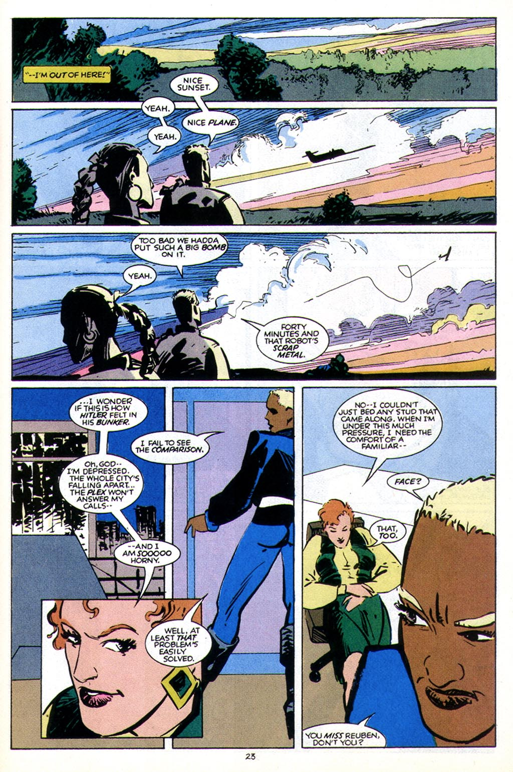 Read online American Flagg! comic -  Issue #43 - 29