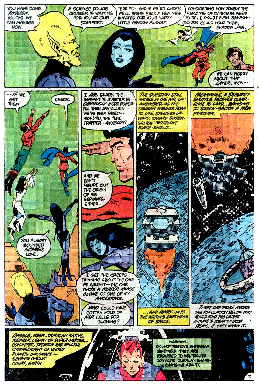 Legion of Super-Heroes (1980) 292 Page 2