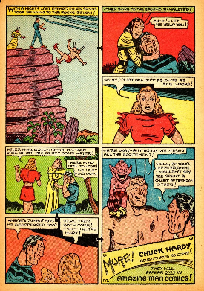 Read online Amazing Man Comics comic -  Issue #12 - 49