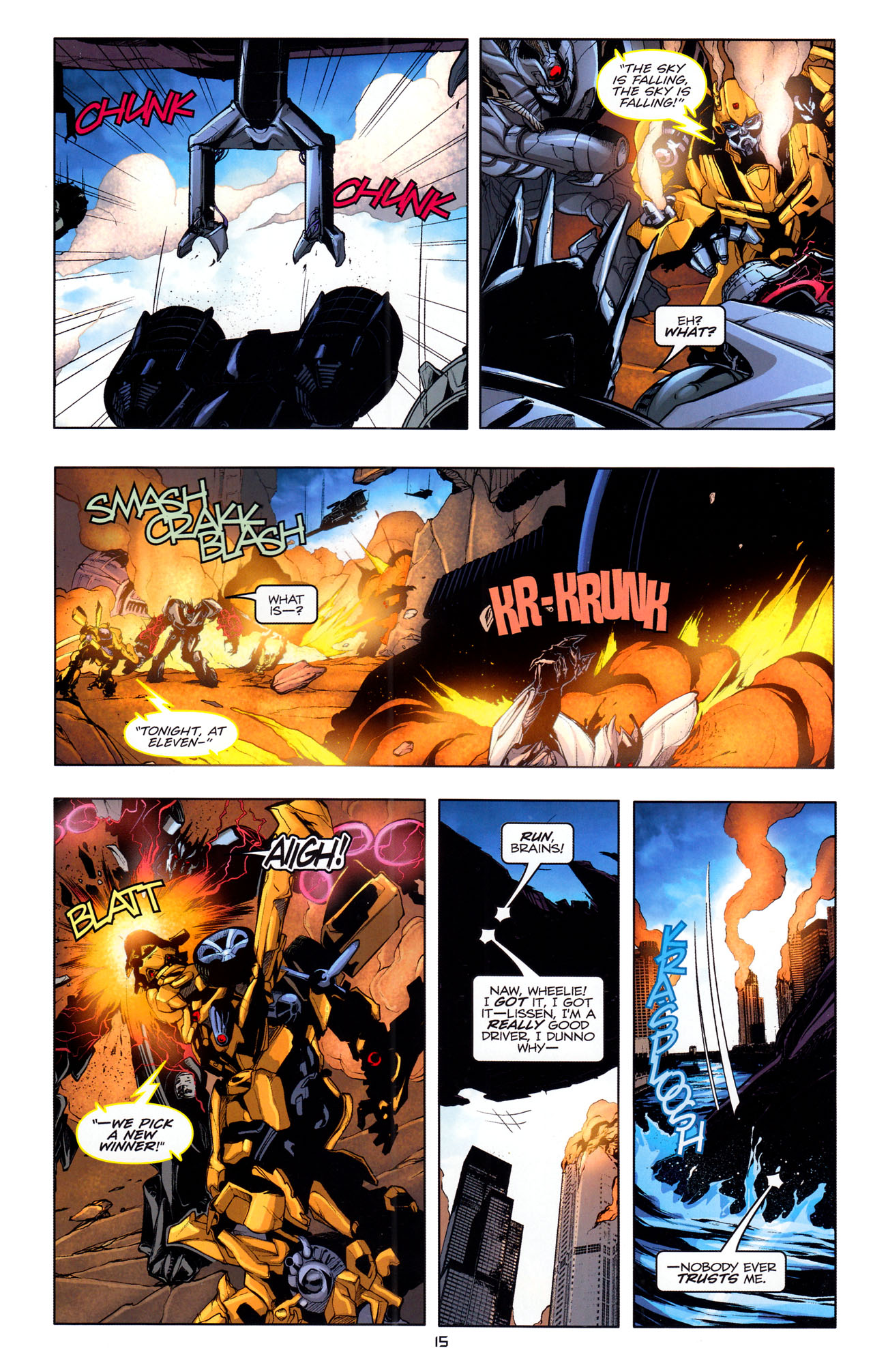 Read online Transformers: Dark of the Moon Movie Adaptation comic -  Issue #4 - 17