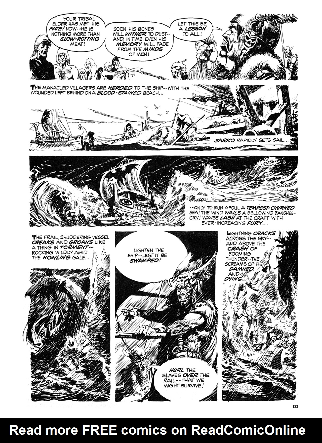 Read online Eerie Archives comic -  Issue # TPB 9 - 134