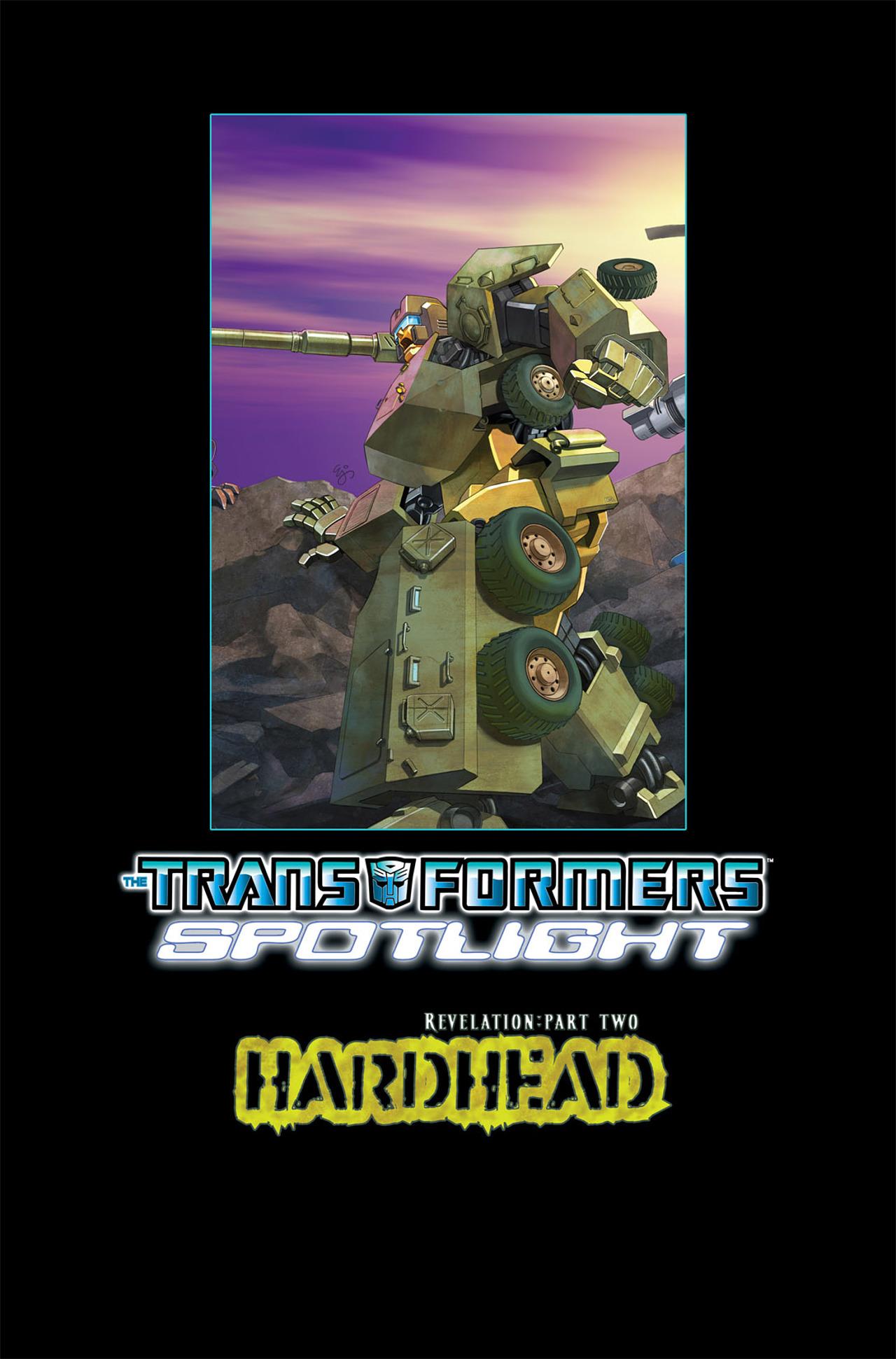 Read online Transformers Spotlight: Hardhead comic -  Issue # Full - 28