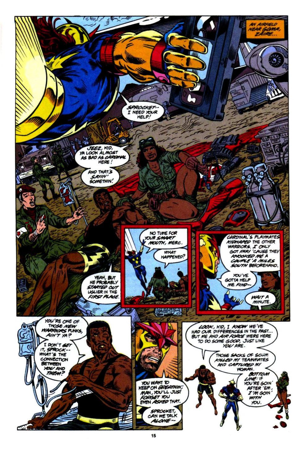 The New Warriors Issue #55 #59 - English 11