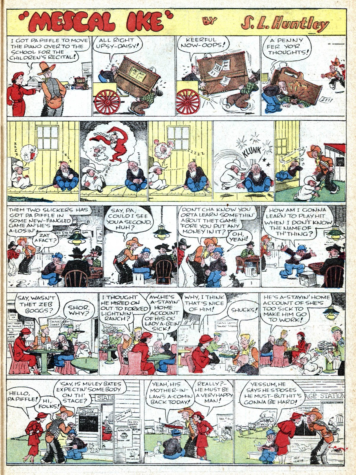Read online Famous Funnies comic -  Issue #36 - 49