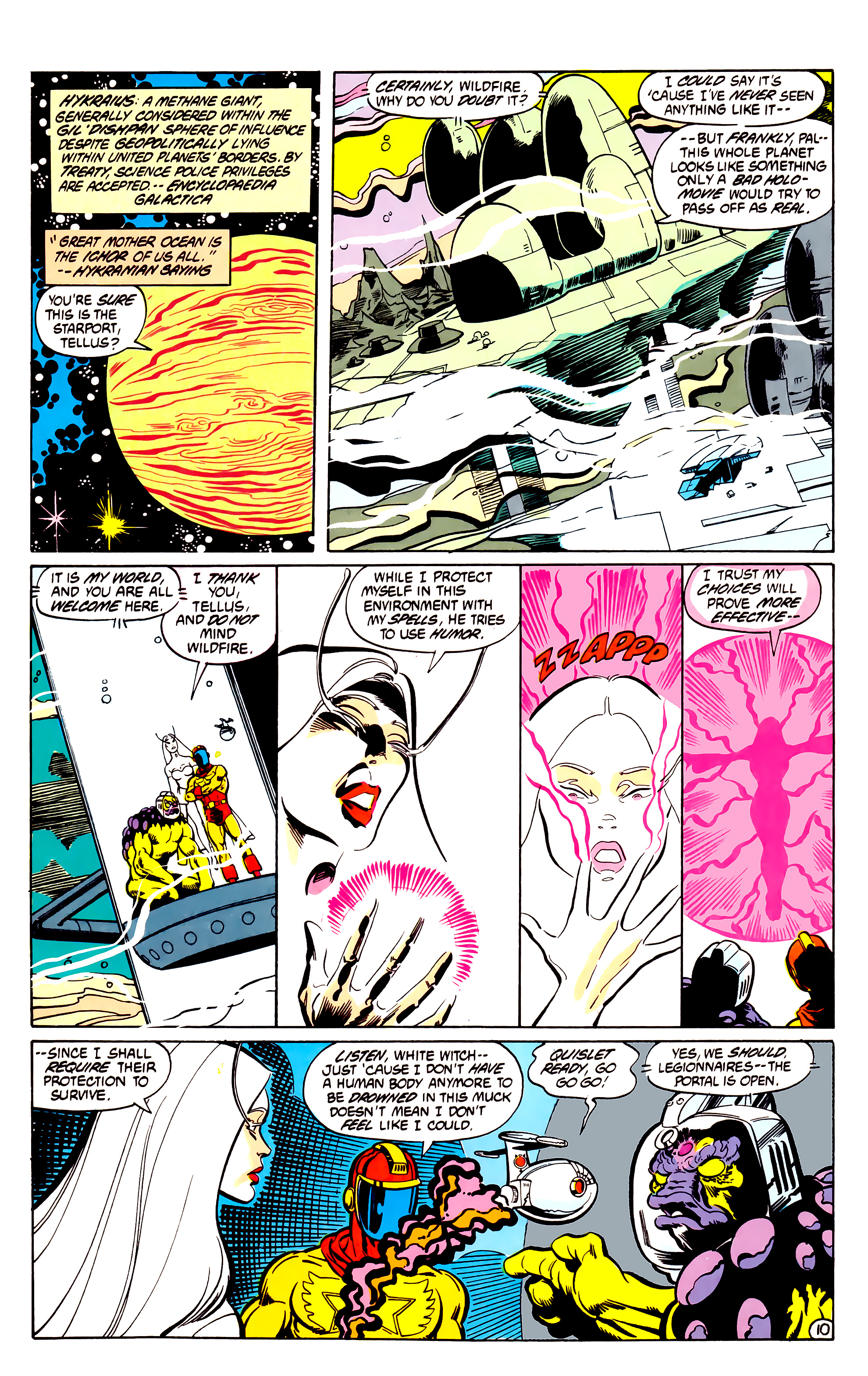 Legion of Super-Heroes (1984) 30 Page 10