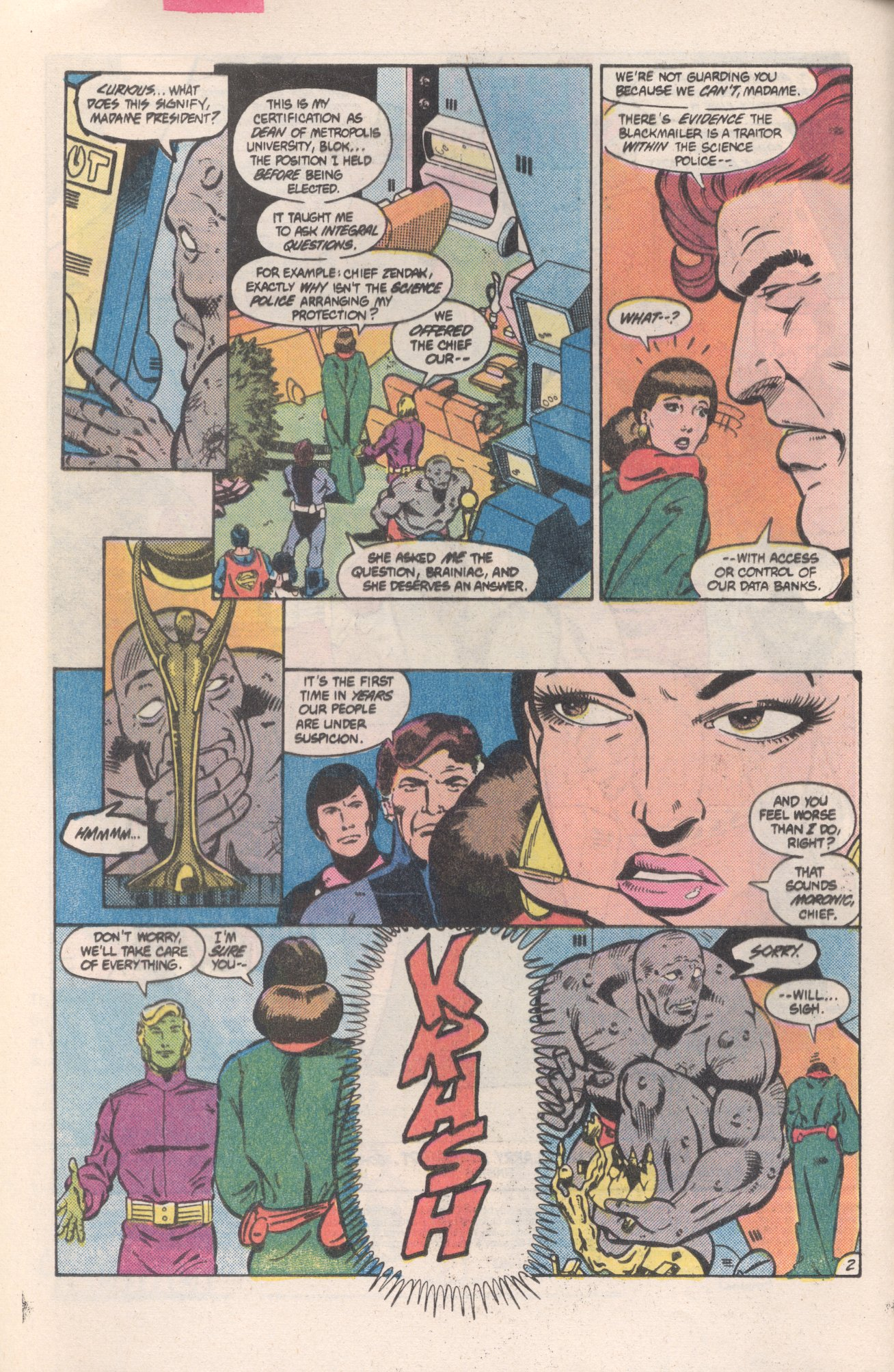 Legion of Super-Heroes (1980) 313 Page 2