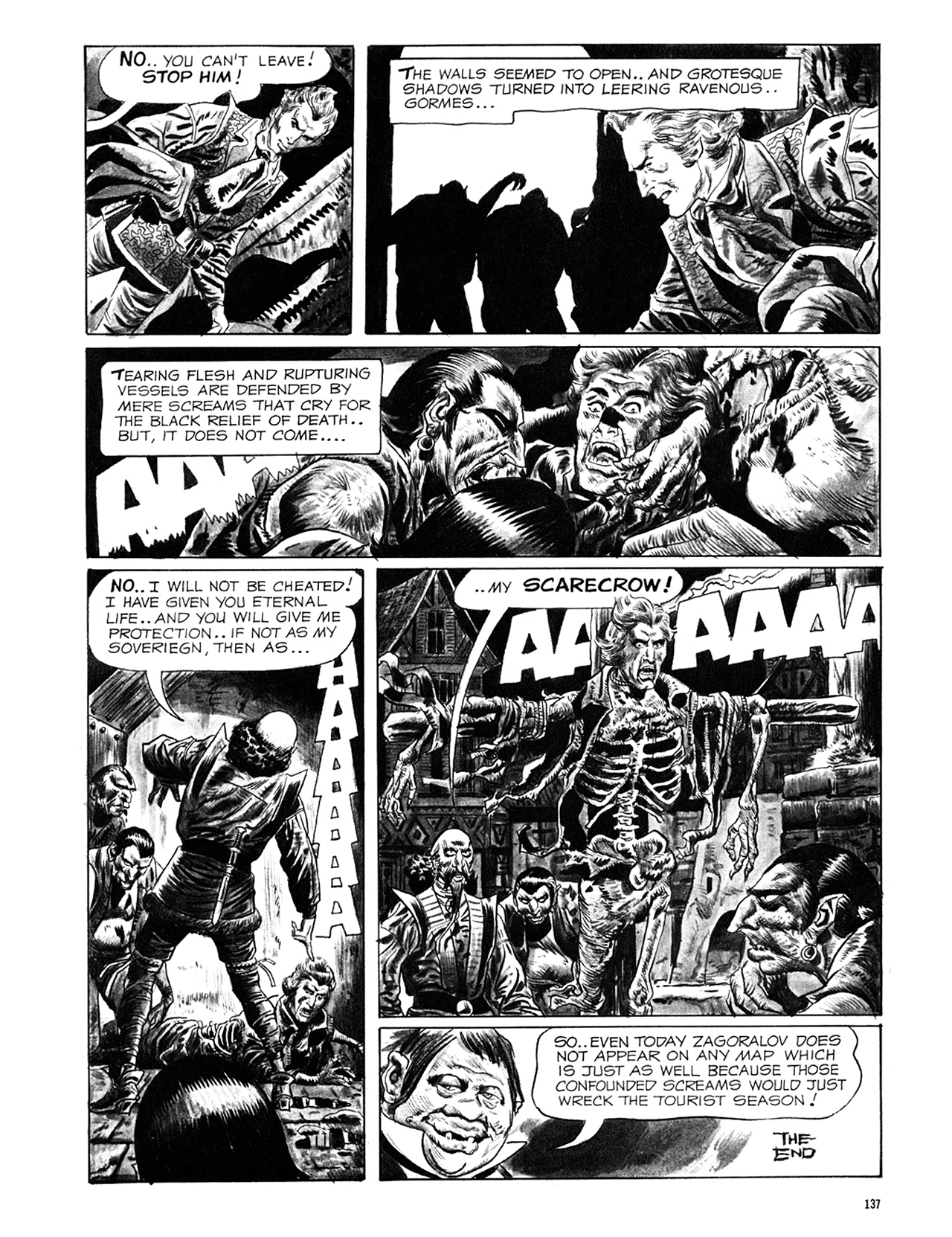 Read online Eerie Archives comic -  Issue # TPB 6 - 137