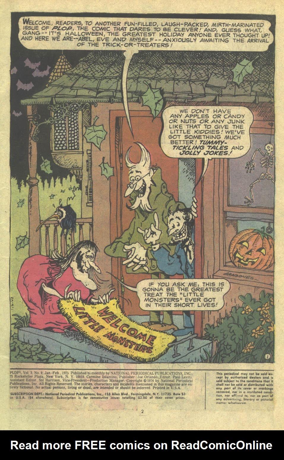Read online Plop! comic -  Issue #9 - 3
