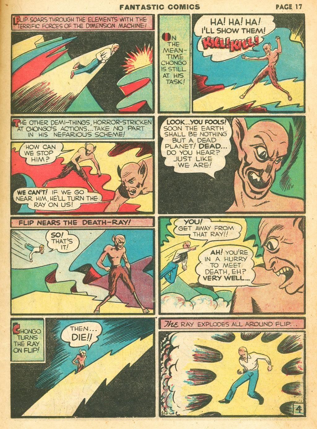 Read online Fantastic Comics comic -  Issue #12 - 19