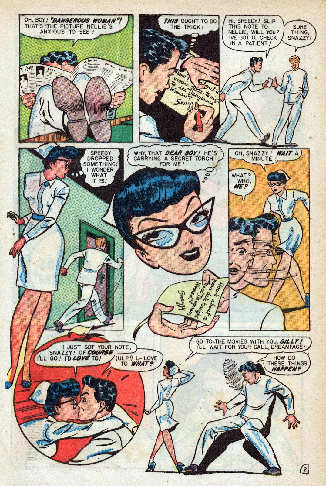 Read online Nellie The Nurse (1945) comic -  Issue #17 - 4