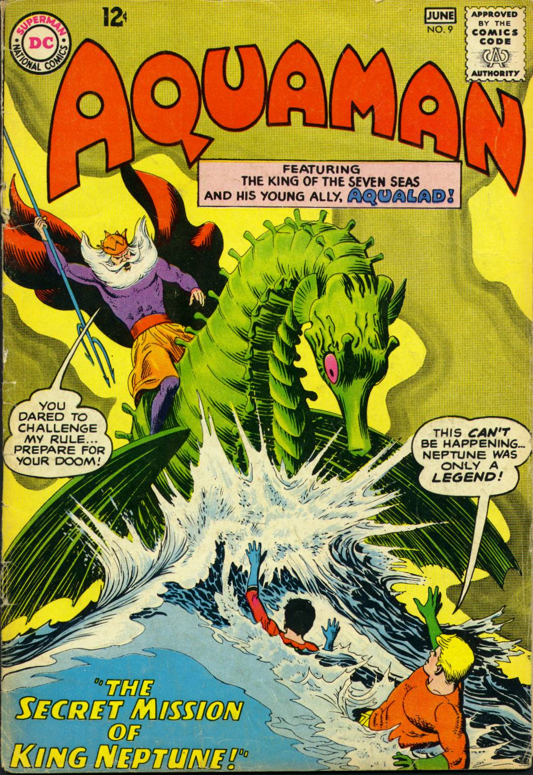 Read online Aquaman (1962) comic -  Issue #9 - 1