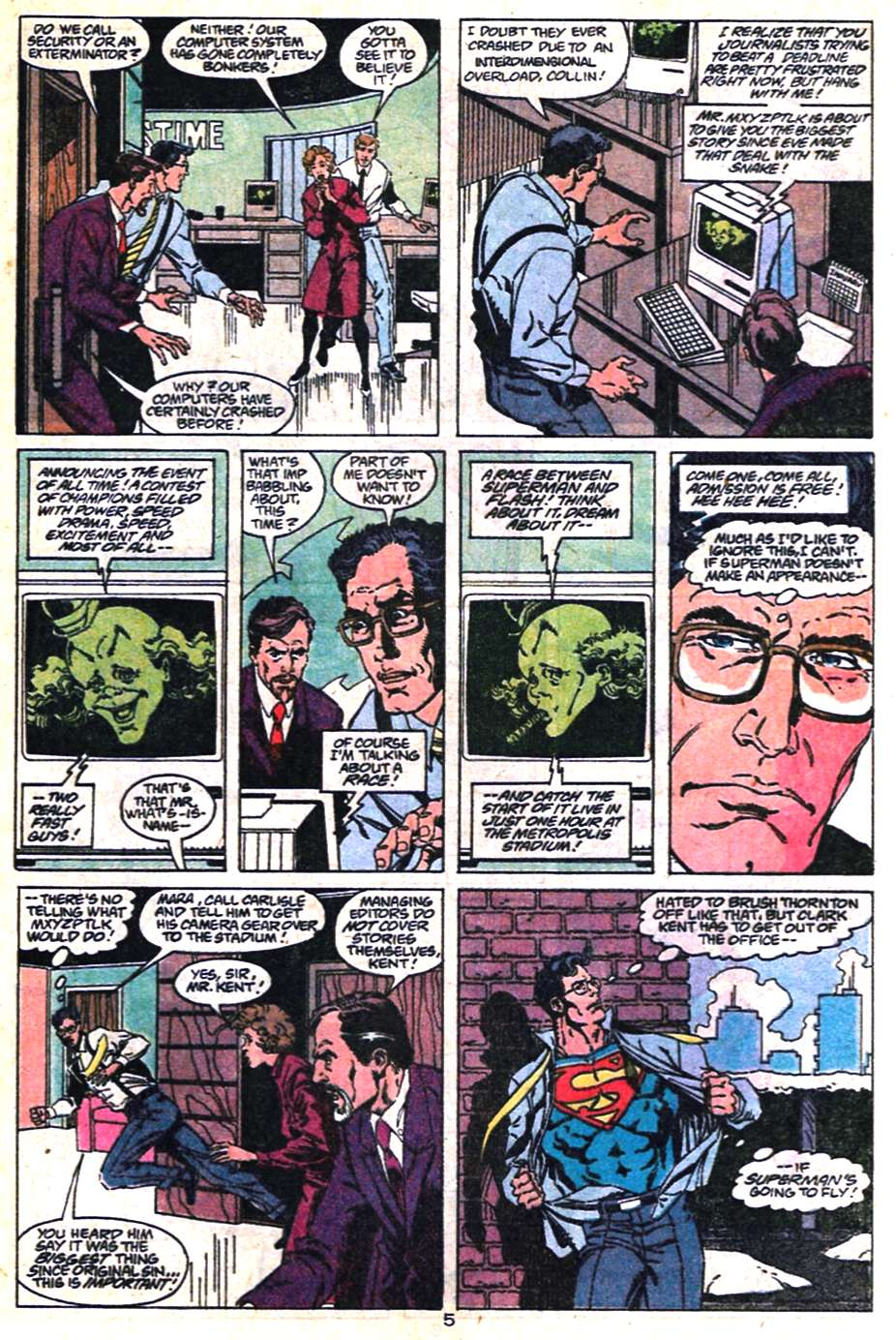 Read online Adventures of Superman (1987) comic -  Issue #463 - 5