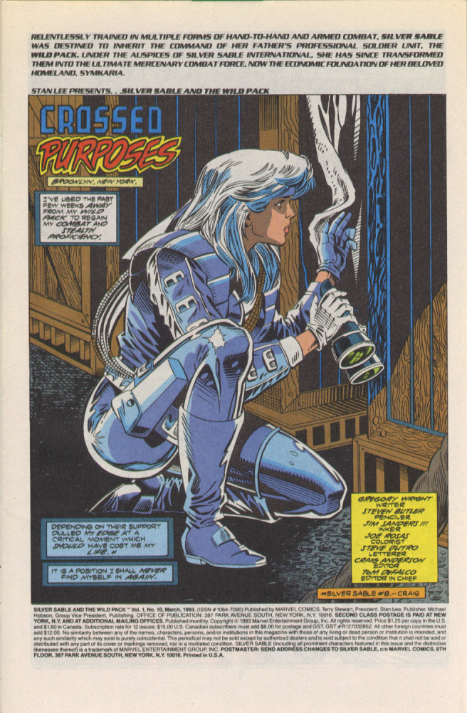 Read online Silver Sable and the Wild Pack comic -  Issue #10 - 2