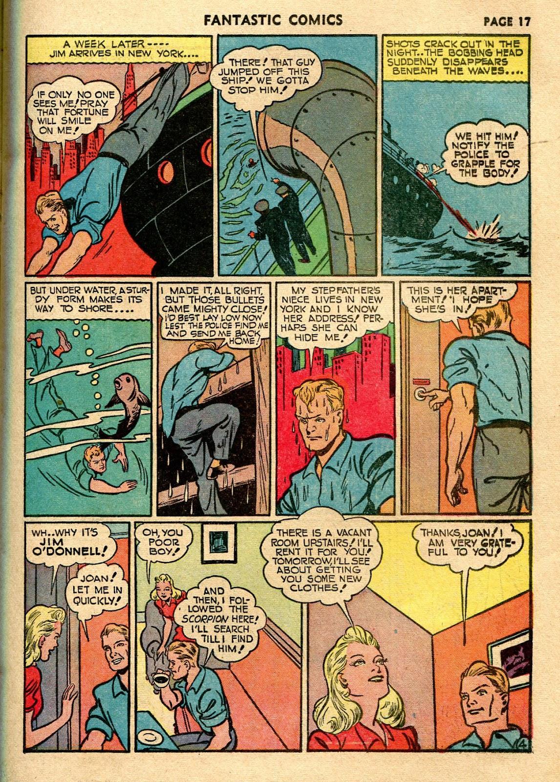 Read online Fantastic Comics comic -  Issue #21 - 19