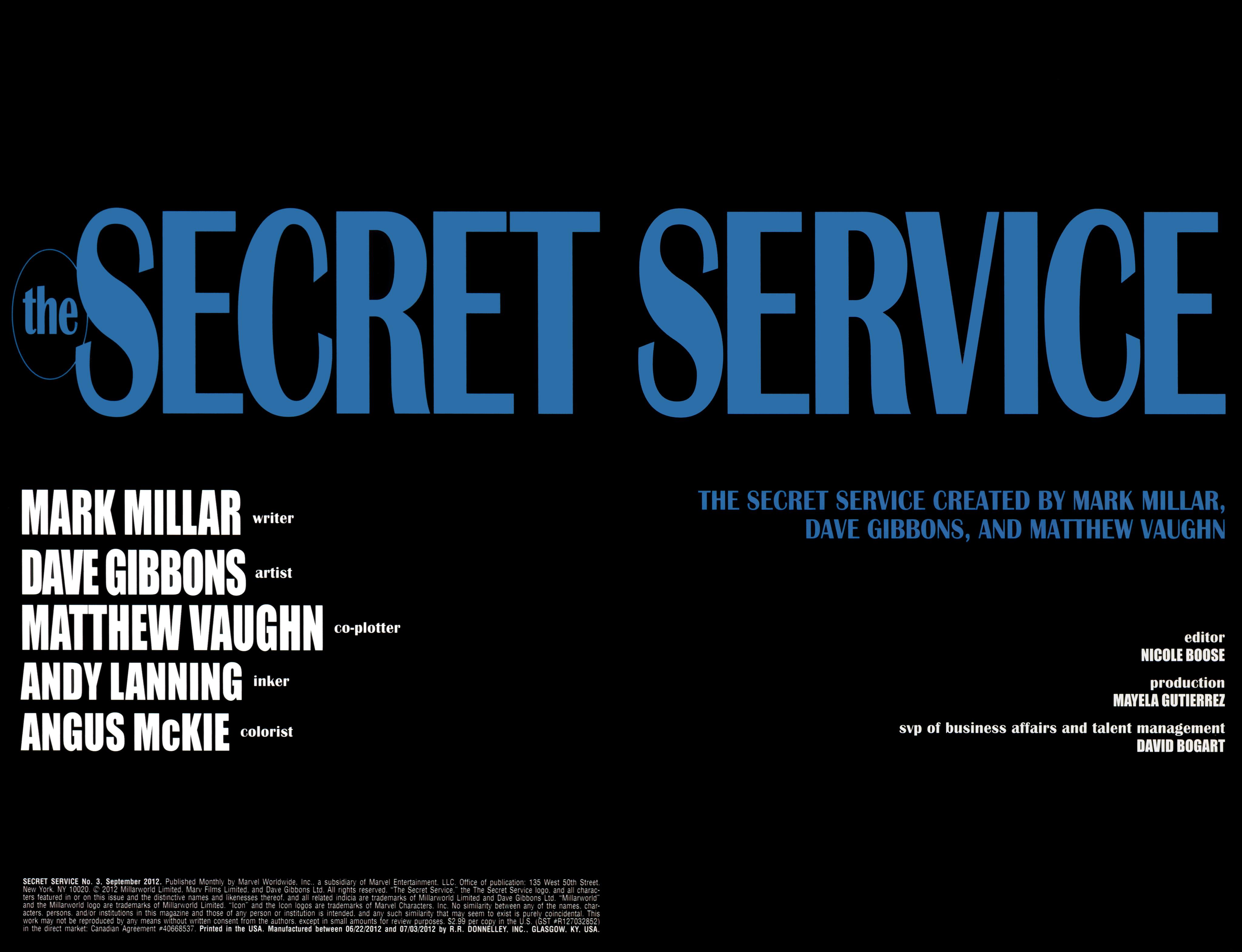 Read online Secret Service comic -  Issue #3 - 2