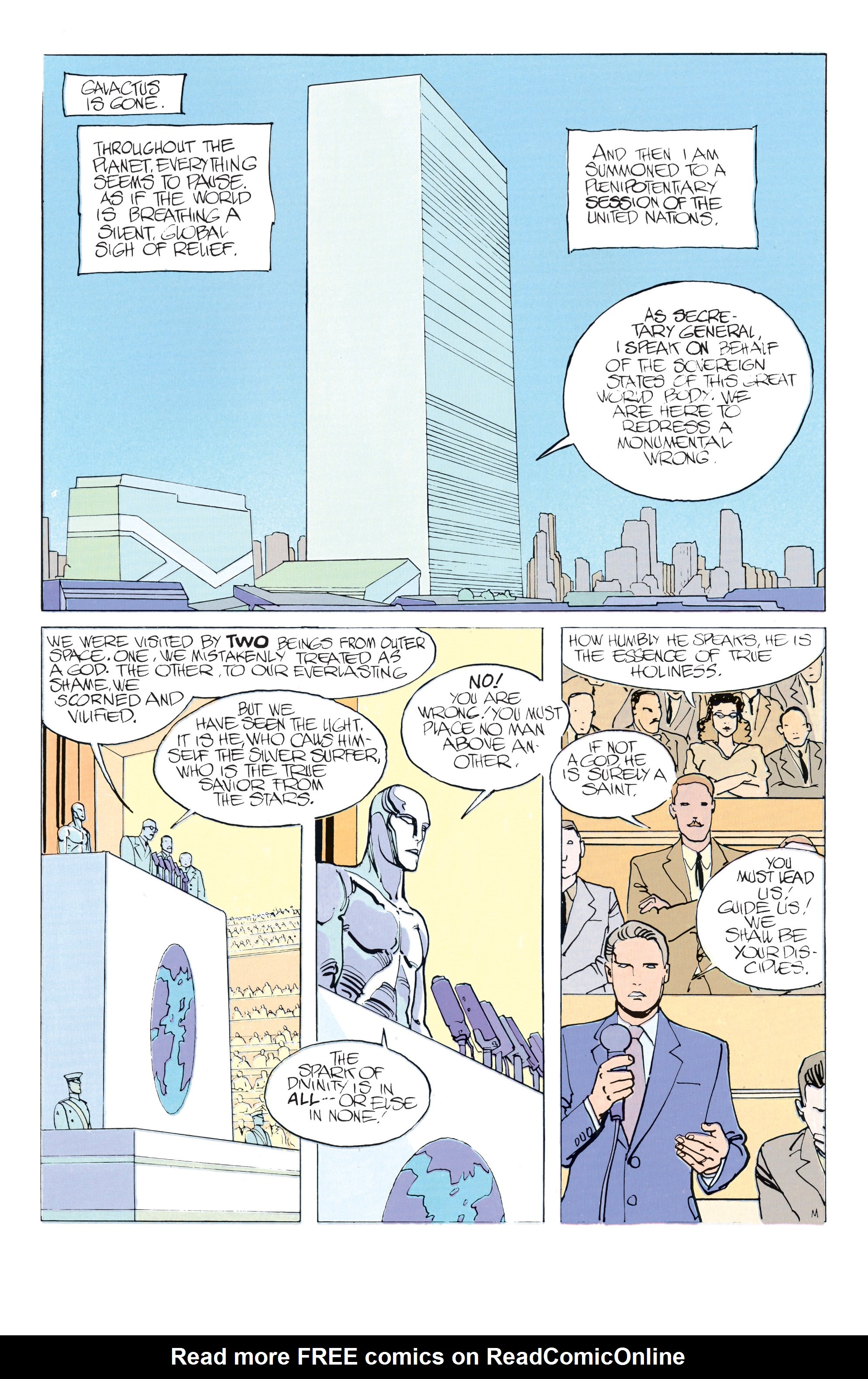 Read online Silver Surfer: Parable comic -  Issue # TPB - 51