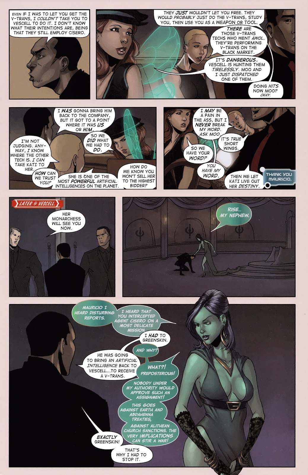 Read online Vescell comic -  Issue #3 - 9