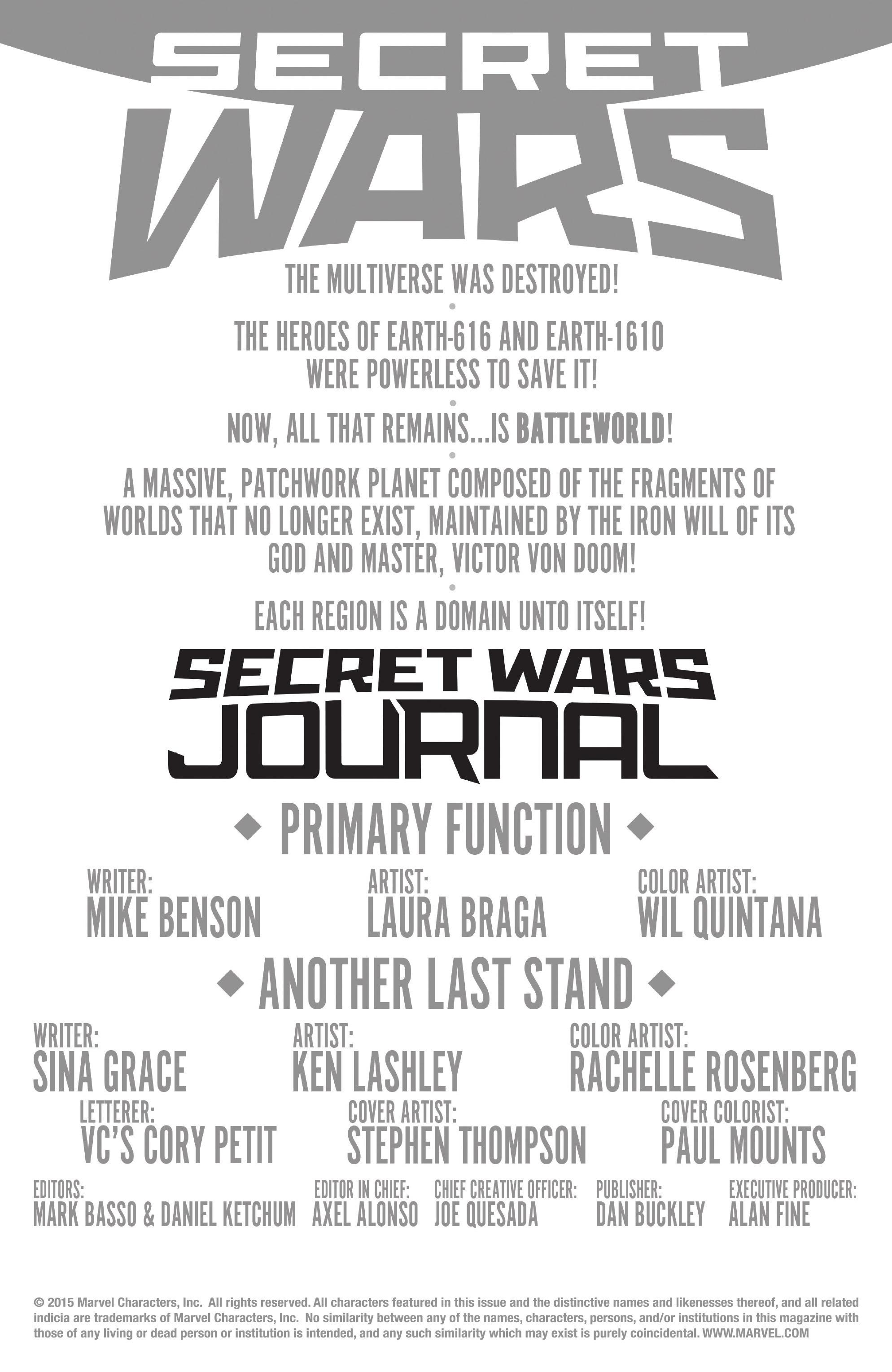 Read online Secret Wars Journal/Battleworld comic -  Issue # TPB - 48